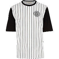 White stripe LA baseball t-shirt