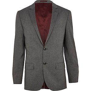 Grey stripe slim suit jacket