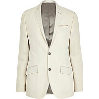 White slim suit jacket