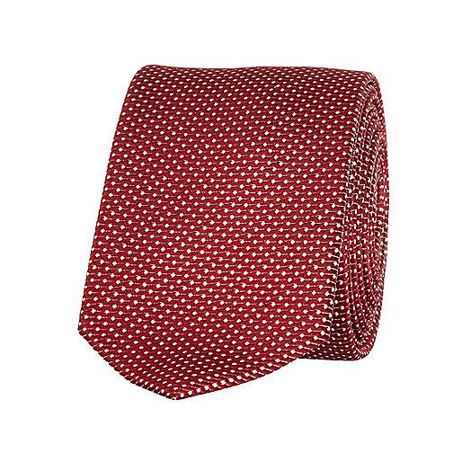 Dark red polka dot tie