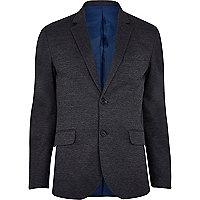 Dark grey marl jersey blazer