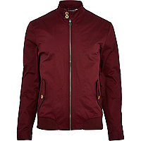 Dark red harrington bomber jacket