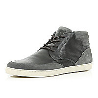 Grey contrast panel high tops