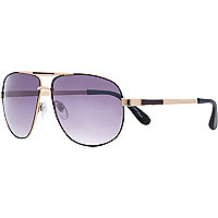 Rose gold tone Jeepers Peepers sunglasses