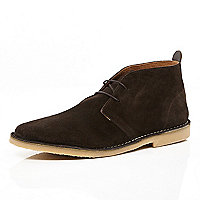 Brown lace up desert boots