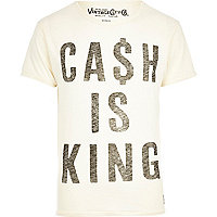 White Jack & Jones Vintage cash t-shirt