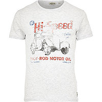 White Jack & Jones Vintage hi-speed t-shirt