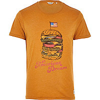 Orange Jack & Jones Vintage burger t-shirt