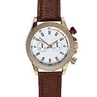 Brown textured watch