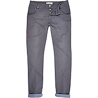Grey slim worker trousers