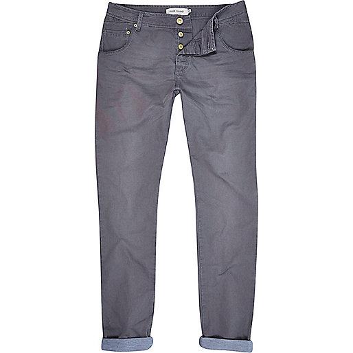 Grey slim worker trousers