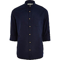 Navy blue grandad shirt