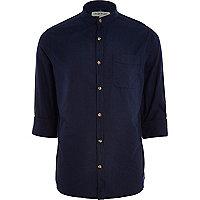 Navy blue grandad shirt