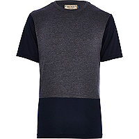 Grey RI Cycle colour block t-shirt