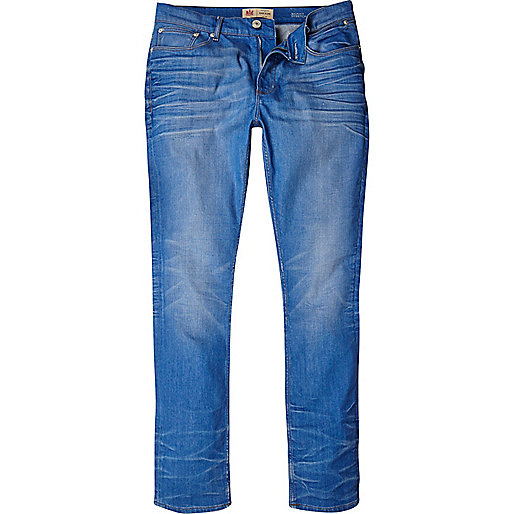 Mid wash Sid skinny stretch jeans