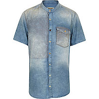 Blue Holloway Road patched shirt