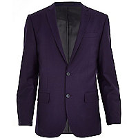 Purple slim suit jacket