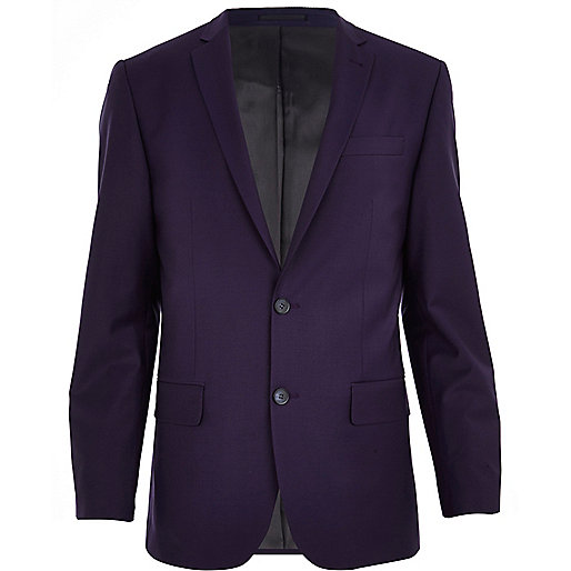 Purple slim suit jacket
