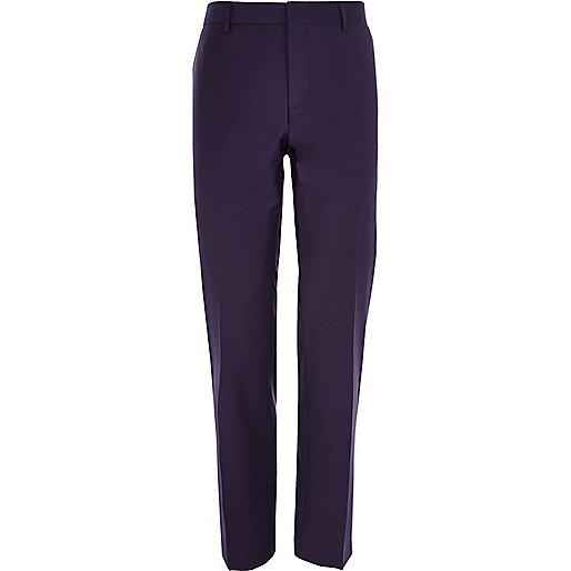Purple slim suit trousers