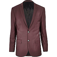 Dark pink slim suit jacket