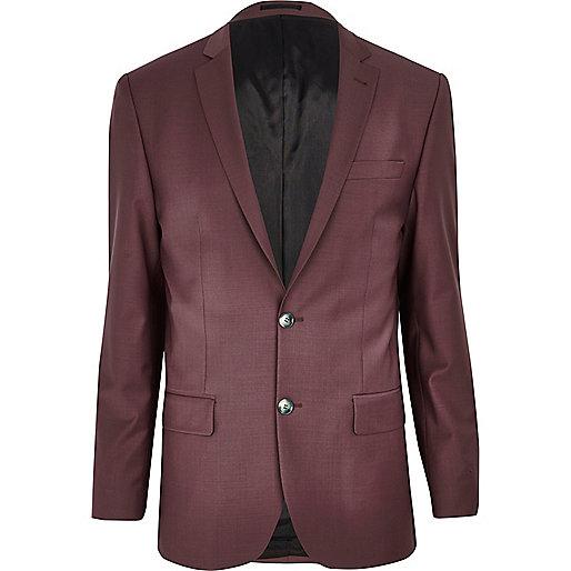 Dark pink slim suit jacket