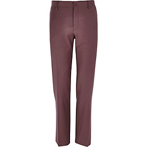 Dark pink slim suit trousers