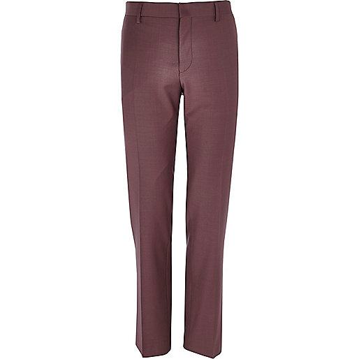 Dark pink slim suit trousers