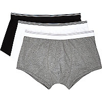 Monochrome low rise boxer shorts pack
