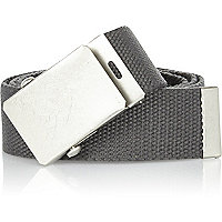 Grey webbing plate belt