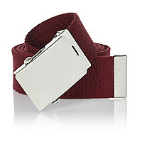 Dark red webbing plate belt
