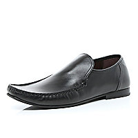 Black slip on formal shoes
