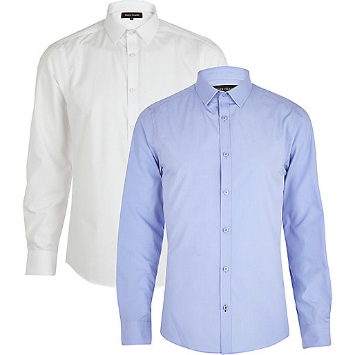 Blue and white shirt pack