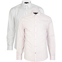 Light pink long sleeve shirt pack