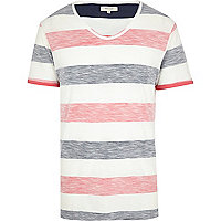 Navy reverse stripe t-shirt