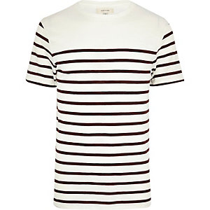 Dark red Breton stripe t-shirt