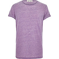 Light purple burnout t-shirt