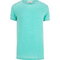 Turquoise burnout t-shirt