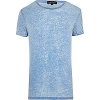 Light blue burnout crew neck t-shirt