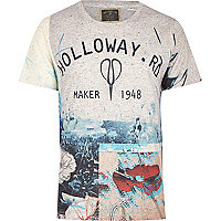 White Holloway Road front print t-shirt