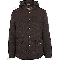 Brown fleck quilted jacket