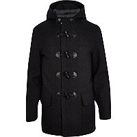 Dark grey smart duffle coat