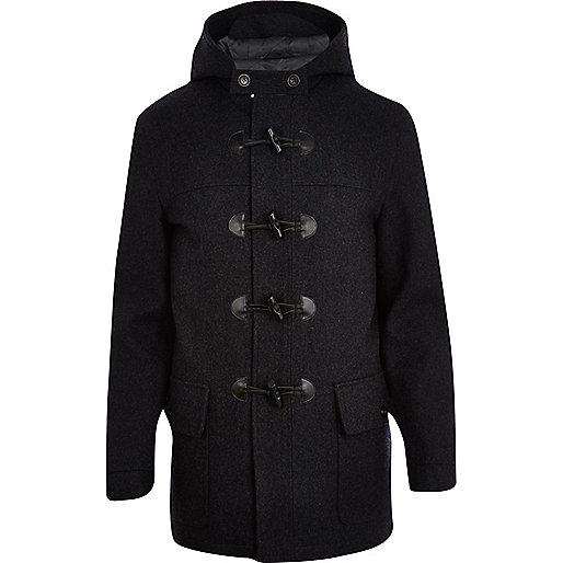 Dark grey smart duffle coat