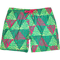 Green Bjorn Borg palm print swim shorts