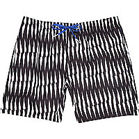 Black Bjorn Borg criss cross print shorts
