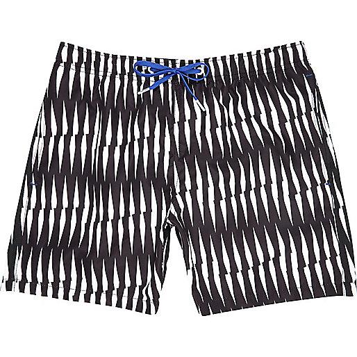 Black Bjorn Borg criss cross print shorts