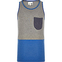 Grey Humor colour block vest
