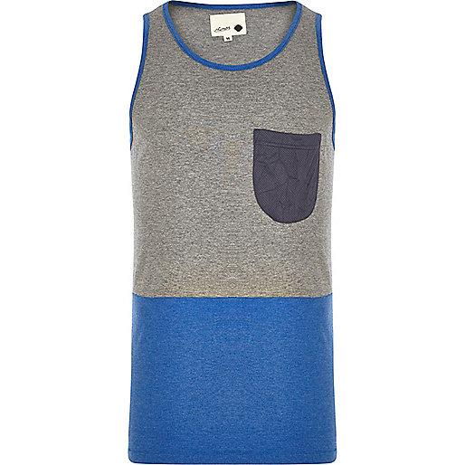 Grey Humor colour block vest