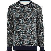 Blue Humor paisley sweatshirt