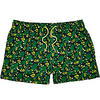 Green Humor camouflage swim shorts