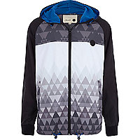 Black Humor geometric print casual jacket